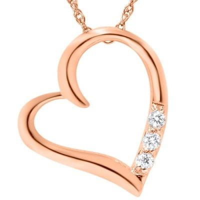 Diamantové srdíčko v náhrdelníku z růžového zlata Tanish koupíte na eppi.cz