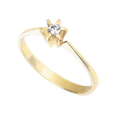 Zásnubní prsten s round diamantem Avasa koupíte na eppi.cz